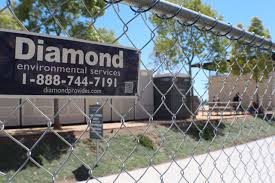 Construction Temporary Fence Barricades Diamond Enviromental Services
