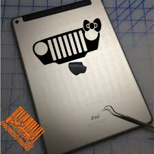Jeep Wrangler Tj Girl Bow Grill Decal Sticker A Sticky Obsession