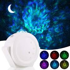 Aloveco Star Projector 3 In 1 Led Night Light Projector With Moon Star Nebula Cloud Touch Voice Control Led Projector Lights Sky Projection Lamp For Kids Bedroom Game Room Home Theatre White