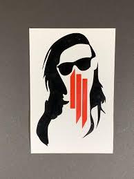 Skrillex Vinyl Sticker Skrillex Custom Sticker Custom Etsy