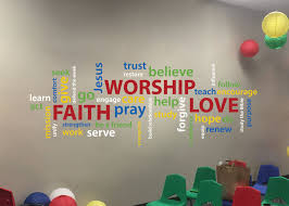 Word Collage Faith Worship Love Youth Room Church Christian Etsy Sunday School Rooms Sunday School Classroom Kids Ministry Rooms