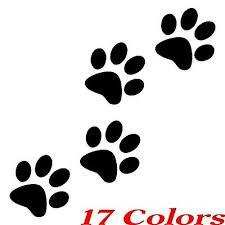 Qty 4 Cat Dog Animal Paw Print Feet Vinyl Car Decal Window Sticker Ebay