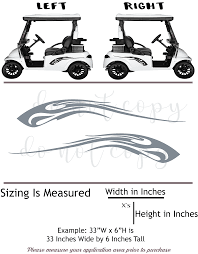 Golf Cart Vinyl Graphic Decals R1003 Set Of 2 Shop Vinyl Design