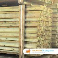 Machine Half Rounded Post And Rail Fence Rail 125mm X Diametermm X 3600mm Natural Berkshire Fencing