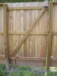 diy building a double wooden fence gate