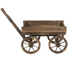products patio garden wooden wagon
