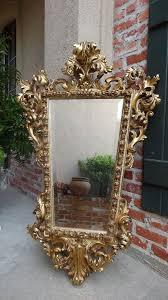 gold gilt frame beveled wall mirror