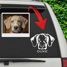 Custom Pet Car Decal Furbabyprints Com