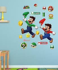 Super Mario Bros 18 Piece Super Mario Brothers Fathead Wall Decal Set Best Price And Reviews Zulily