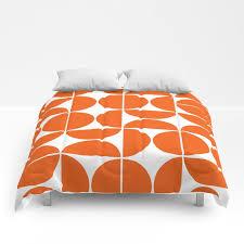 mid century modern geometric 04 orange