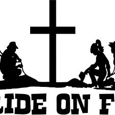 Vova Praying Cowboy Cowgirl Cross Horse Christ Car Truck Window Vinyl Decal Sticker