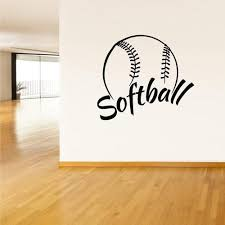 Wall Vinyl Decal Sticker Decals Softball Ball Gates Sport Word Sign Qu Stickersforlife