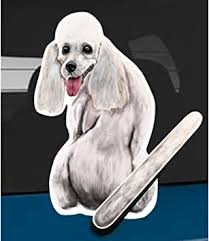Amazon Com Wagging Wipers Poodle Dog Car Rear Wiper Sticker Decal Automotive