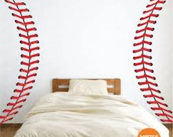 Baseball Wall Decal Etsy