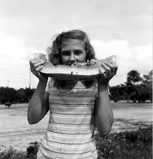 Florida Memory • 14 year old Priscilla Stevens at the Florida Watermelon  Festival - Leesburg, Florida