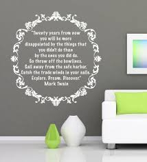 Vinyl Quote Wall Housewares Mark Twain Sticker Text Vinyl Quotes Wall Quotes Travel Inspired Decor