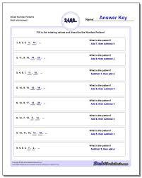 number patterns igcse worksheets grade