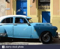 Havana Cuba 28th Feb 2016 An Early 1950s Pontiac Automobile With An Italian Ferrari Decal On