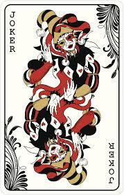 Medieval Joker Playing Card Spade Diamond Heart Club Gold Black Red Wh Shinobi Stickers
