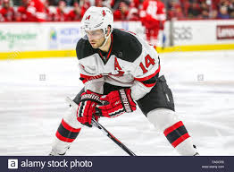 New Jersey Devils center Adam Henrique (14) during the NHL game ...