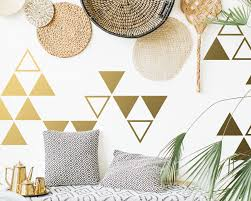 Large Triangle Wall Decals Geometric Vinyl Decals Gold Decals Triangle Decal Tribal Decal Unique Modern Decor For Gifts And More