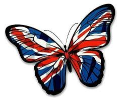 Sticar It Ltd Beautiful Butterfly Union Jack British Flag Vinyl Car Sticker Decal Small 130x90mm Approx Buy Online In Burundi Sticar It Ltd Products In Burundi See Prices Reviews And Free