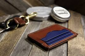 caracal handcrafted slim leather wallet