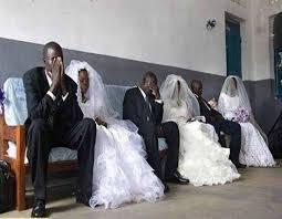 wear their wedding clothes