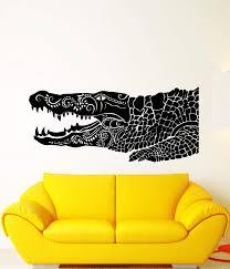 Vinyl Wall Decal Alligator American Animal Predator Ethnic Style Stick Wallstickers4you