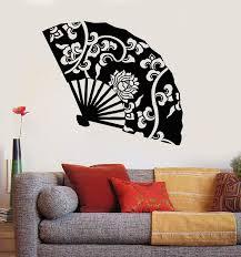 Vinyl Wall Decal Hand Fan Asian Decor Beauty Oriental Art Stickers Uni Wallstickers4you