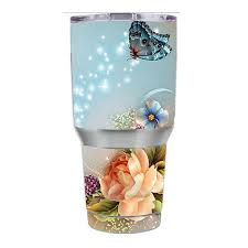 Skin Decal For Ozark Trail 30 Oz Tumbler Cup 6 Piece Kit Sparkle Butterfly For Sale Online