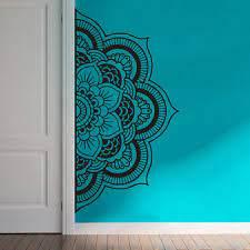 Yoyoyu Decal Half Mandala Wall Decal Sticker Flower Vinyl Bohemian Headboard Home Decor Diy Bedroom Carving Wall Poster Y022 Wall Poster Flower Vinylsstickers Flowers Aliexpress