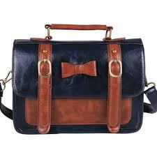 vintage faux leather satchel handbag