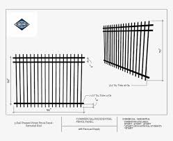 Commercial 3 Rail Pressed Picket Fence Panel Extruded Tubular Steel Price Philippines Png Image Transparent Png Free Download On Seekpng