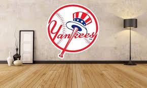 New York Yankees Sticker Decal Mlb Decor Yankees Logo Etsy