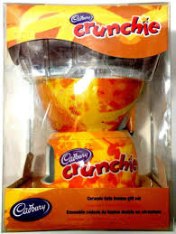 crunchie ceramic twin chocolate fondue