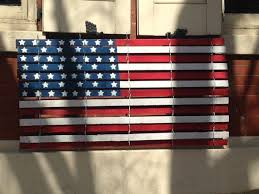Hand Painted Repurposed Snow Fence American Flag Snow Fence Wood Snow Fence Hand Painted