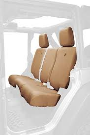 bestop 2928404 tan rear seat covers