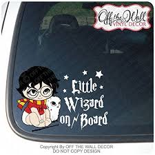 Baby Harry Potter Baby Hedwig Little Wizard On Board Sign Vinyl Decal Sticker For Cars