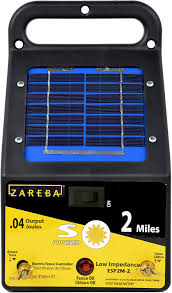 Amazon Com Zareba Esp2m Z 2 Mile Solar Low Impedance Electric Fence Charger Agricultural Livestock Electric Fence Chargers Garden Outdoor