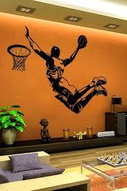 Slam Dunk Basketball Silhouette Wall Decal Large 32 Colors Walltat Com