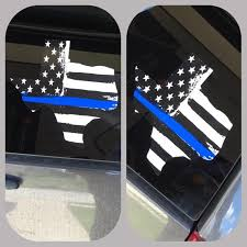 Blue Line Flag Window Decal Blue Lives Matter Texas Decal Police Onlineamericanstore
