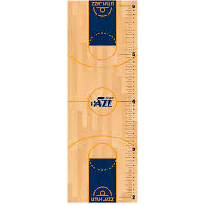 Utah Jazz Fathead Basketball Court Large Removable Growth Chart