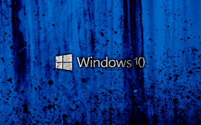 Windows 10 4k Creative Logo Grunge Blue Background 910540