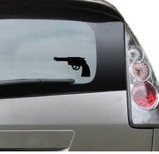 Vinyl Car Decal Pistol Gun Handgun Revolver Decal For Etsy