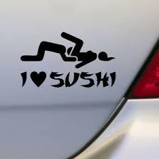 1x 12 6 Cm Funny I Love Sushi Decal Car Truck Pet Sticker Window Diy Decortion Ebay