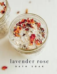 diy lavender rose bath soak eating