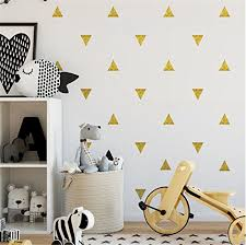 Wall Decal Dots Wall Stickers 40 Pcs 2 Polka Dot Circles Triangle Vinyl Lettering Decal Home Decor For Festive Baby Nursery Kids Room Trendy Cute Fun Safe For Wall Paint Confetti Gold Cute Home Decor