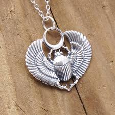 sterling silver egyptian scarab