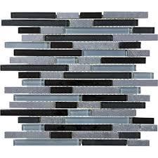 black timber linear mosaic